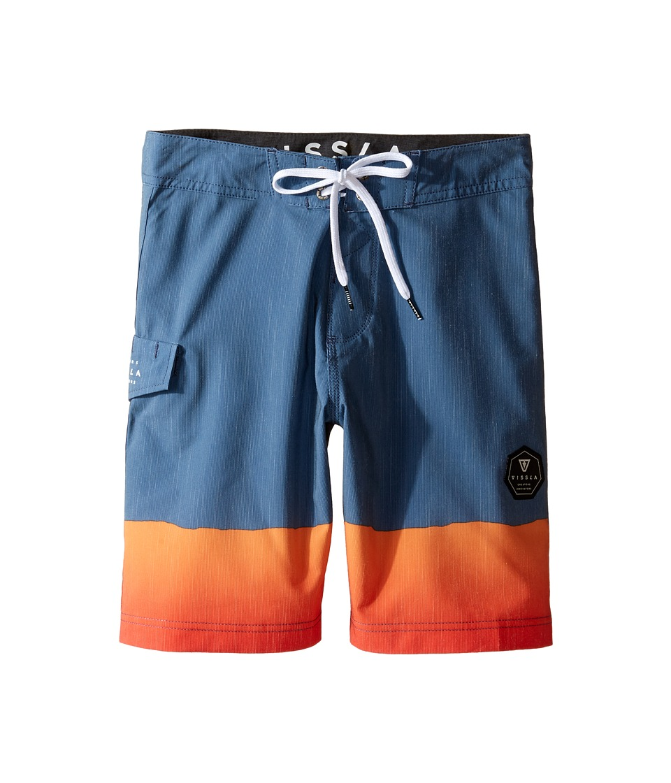 VISSLA Kids - So Stoked Four-Way Stretch Boardshorts 17 (Big Kids) (Strong Blue) Boy's Swimwear
