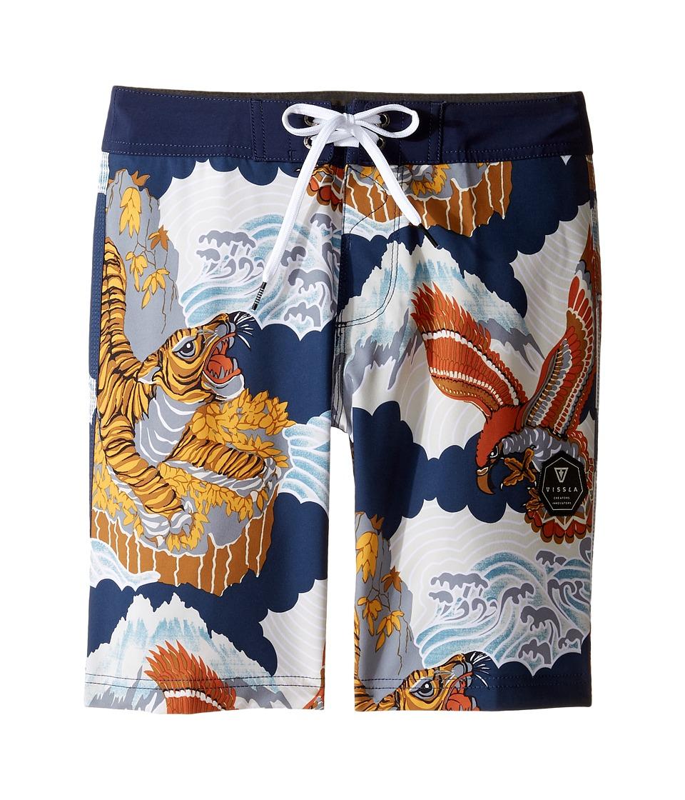 VISSLA Kids - Sunda Land Four-Way Stretch Boardshorts 17 (Big Kids) (Dark Navy) Boy's Swimwear