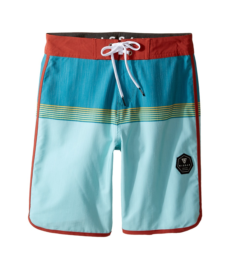 VISSLA Kids Dredges Four-Way Stretch Boardshorts 17 (Big Kids) (Teal) Boy