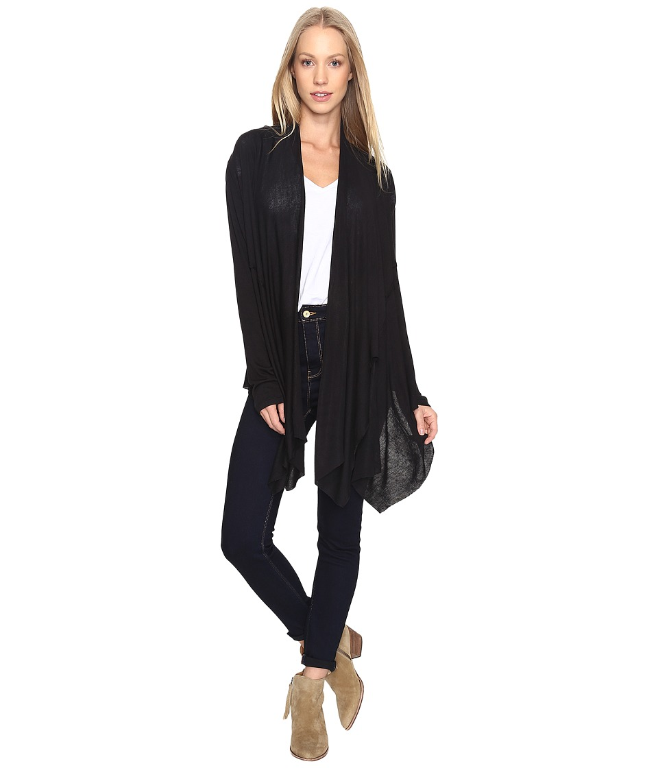 B Collection by Bobeau - Knit Cover-Up (Black) Women's Sweater