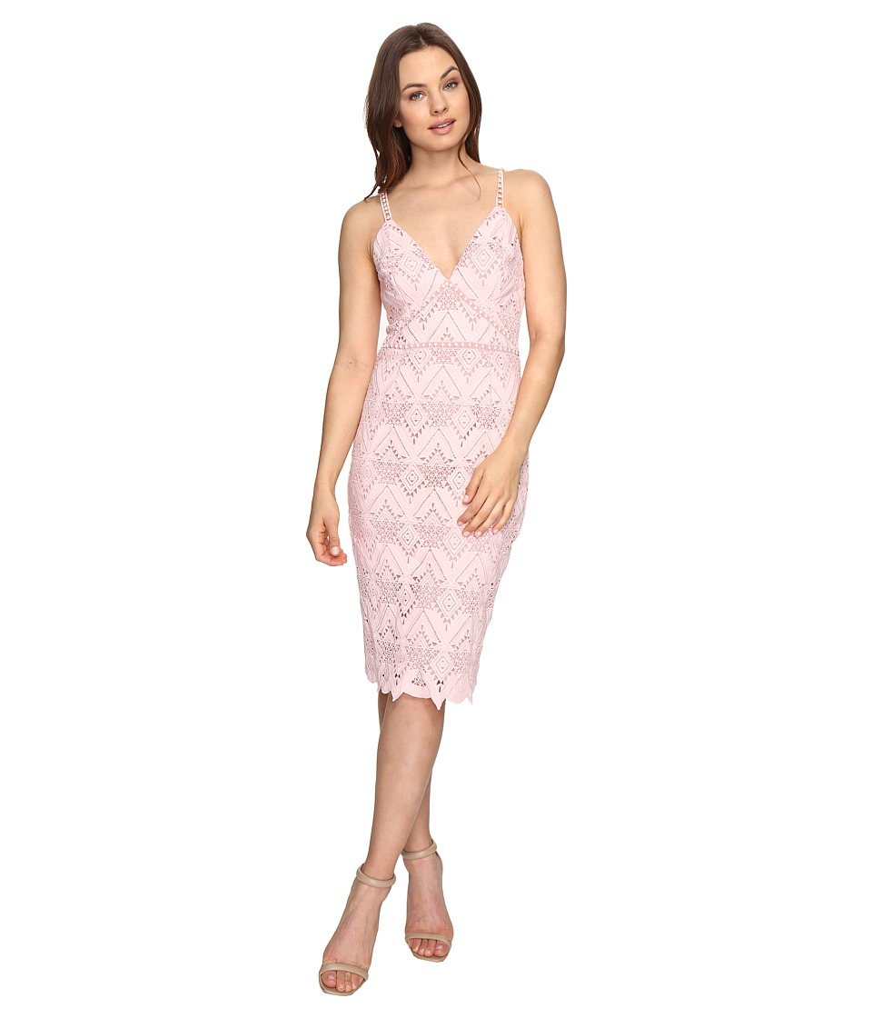 StyleStalker - Elora Midi Dress (Salmon) Women's Dress
