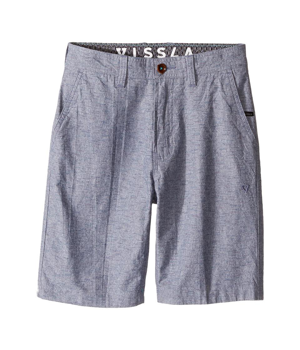 VISSLA Kids - Playa Azul Walkshorts 19 (Big Kids) (Dark Navy) Boy's Shorts