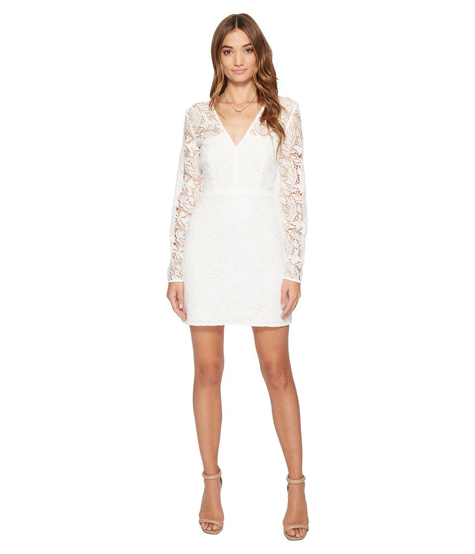 StyleStalker - Eryn Long Sleeve Dress (Blanc) Women's Dress