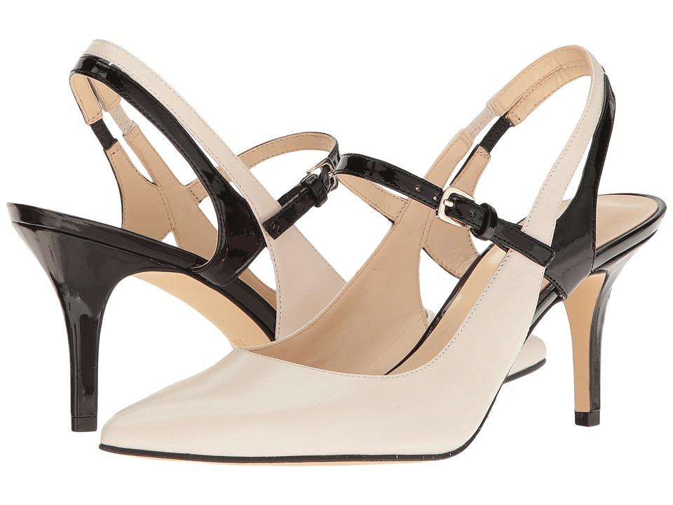Nine West - Kookie (Off-White/Black Leather) Women's Shoes