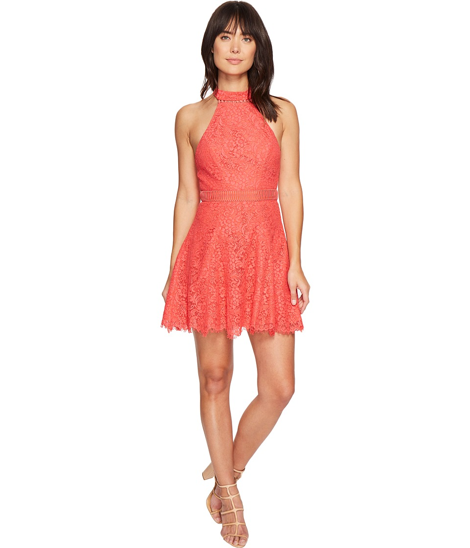 StyleStalker - Sabine A-Line Dress (Coral) Women's Dress