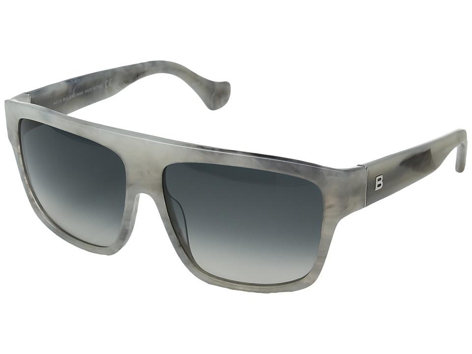 Image of Balenciaga - BA0056 (Ice Melange/Gradient Smoke) Fashion Sunglasses