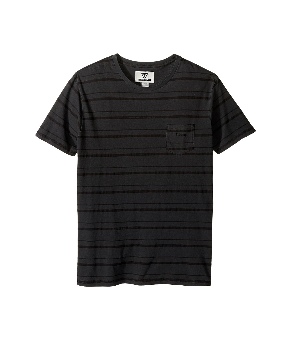VISSLA Kids - Breaker Short Sleeve Knit (Big Kids) (Phantom) Boy's Short Sleeve Knit