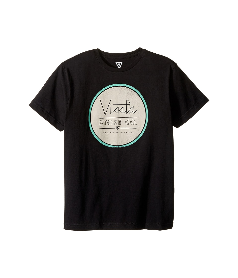 VISSLA Kids - Miniature 30 Singles Short Sleeve Tee (Big Kids) (Black) Boy's T Shirt