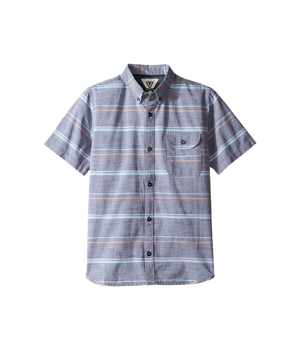 VISSLA Kids - Table Tops Short Sleeve Woven (Big Kids) (Dark Navy) Boy's Clothing