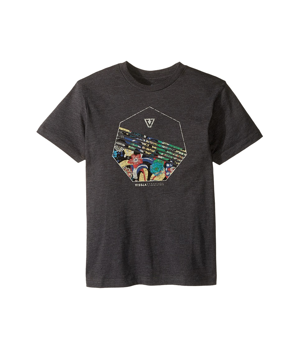 VISSLA Kids - Shark Alley 30 Singles Short Sleeve Tee (Big Kids) (Black Heather) Boy's T Shirt