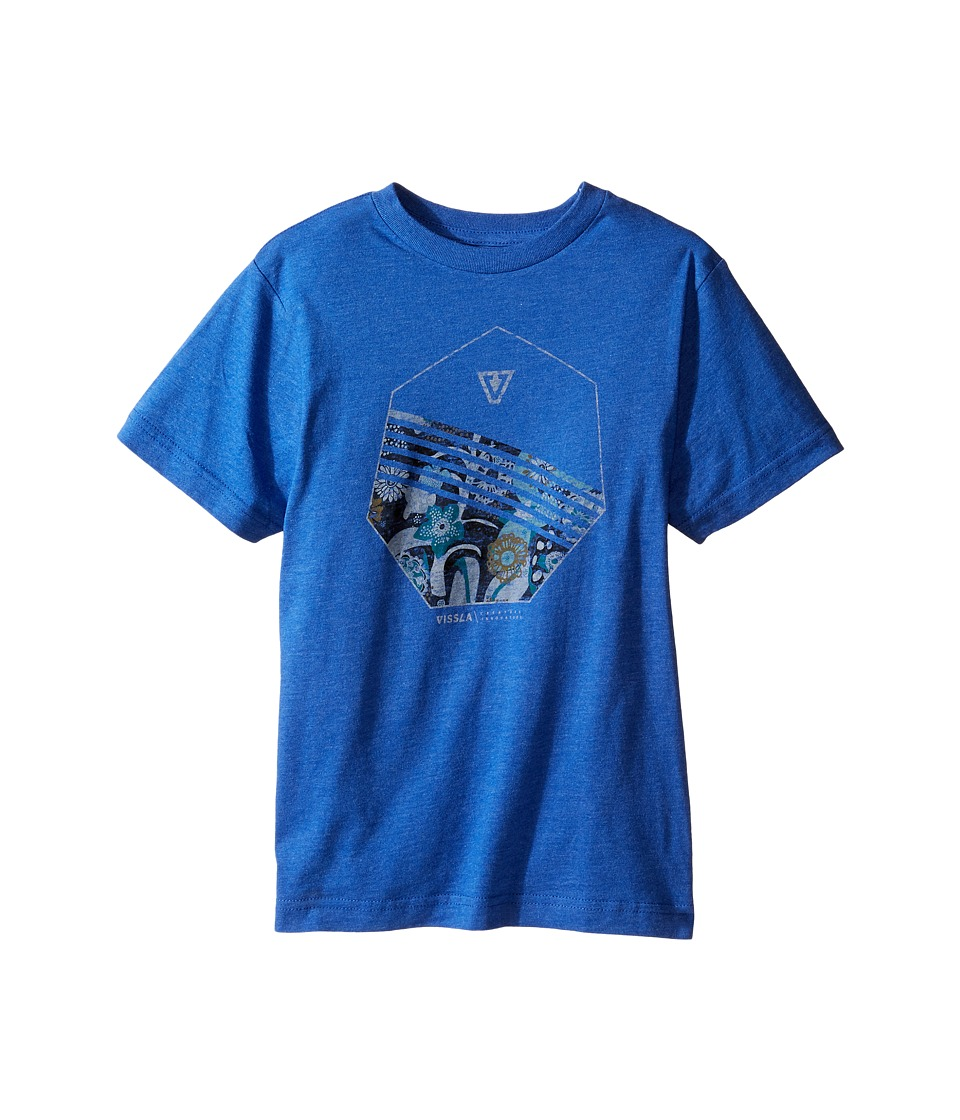 VISSLA Kids - Shark Alley 30 Singles Short Sleeve Tee (Big Kids) (Royal Heather) Boy's T Shirt