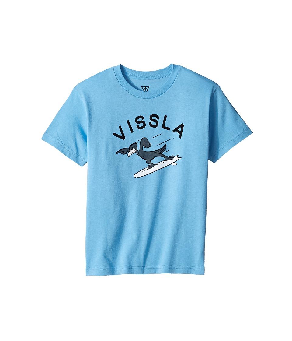 VISSLA Kids - H-Bent 30 Singles Short Sleeve Tee (Big Kids) (Light Blue) Boy's T Shirt