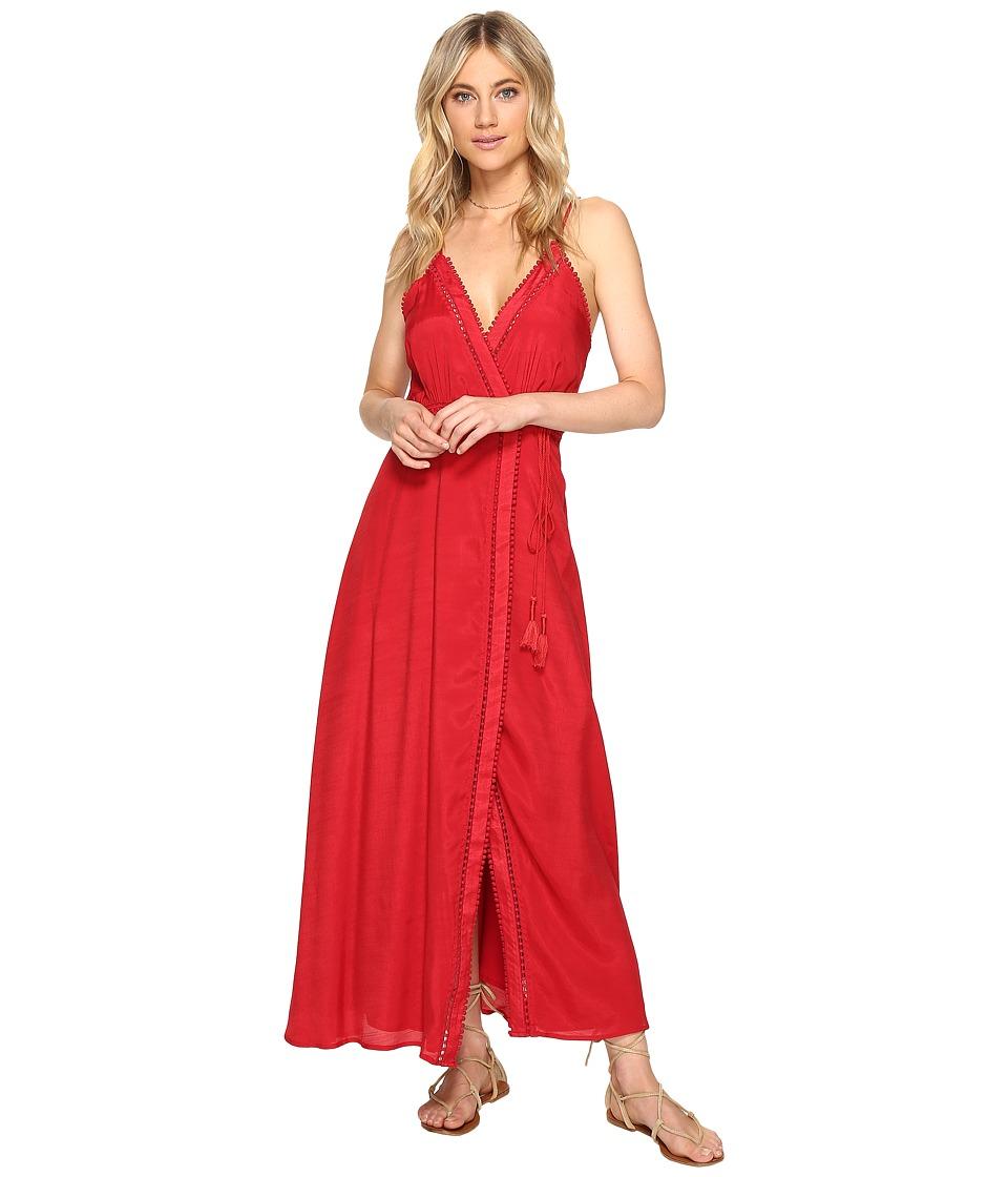 The Jetset Diaries Regla Midi Dress (Crimson) Women