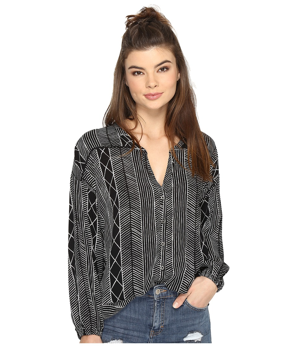 Amuse Society - Spellbound Woven Top (Black) Women's Clothing