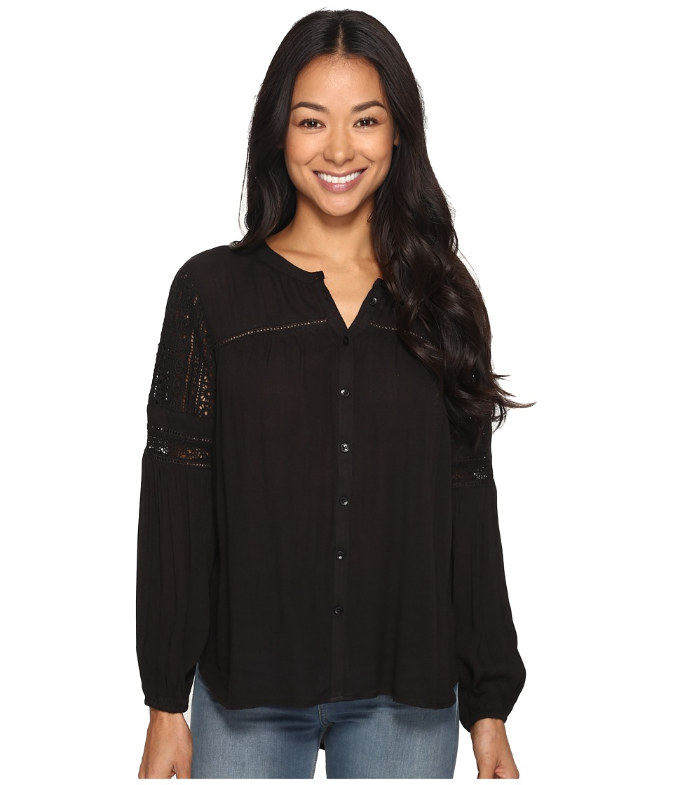 Amuse Society - Crawford Long Sleeve Woven (Black) Women's Clothing