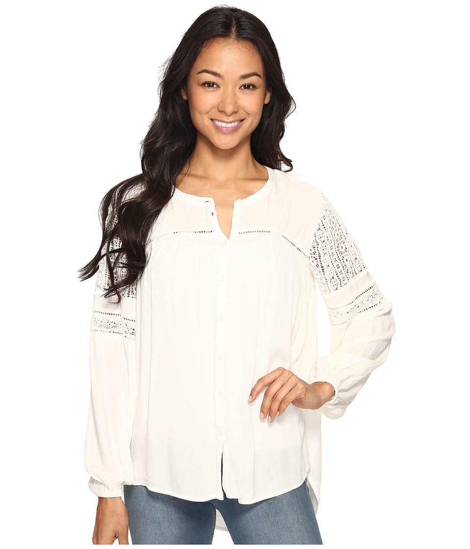Amuse Society - Crawford Long Sleeve Woven (Casa Blanca) Women's Clothing