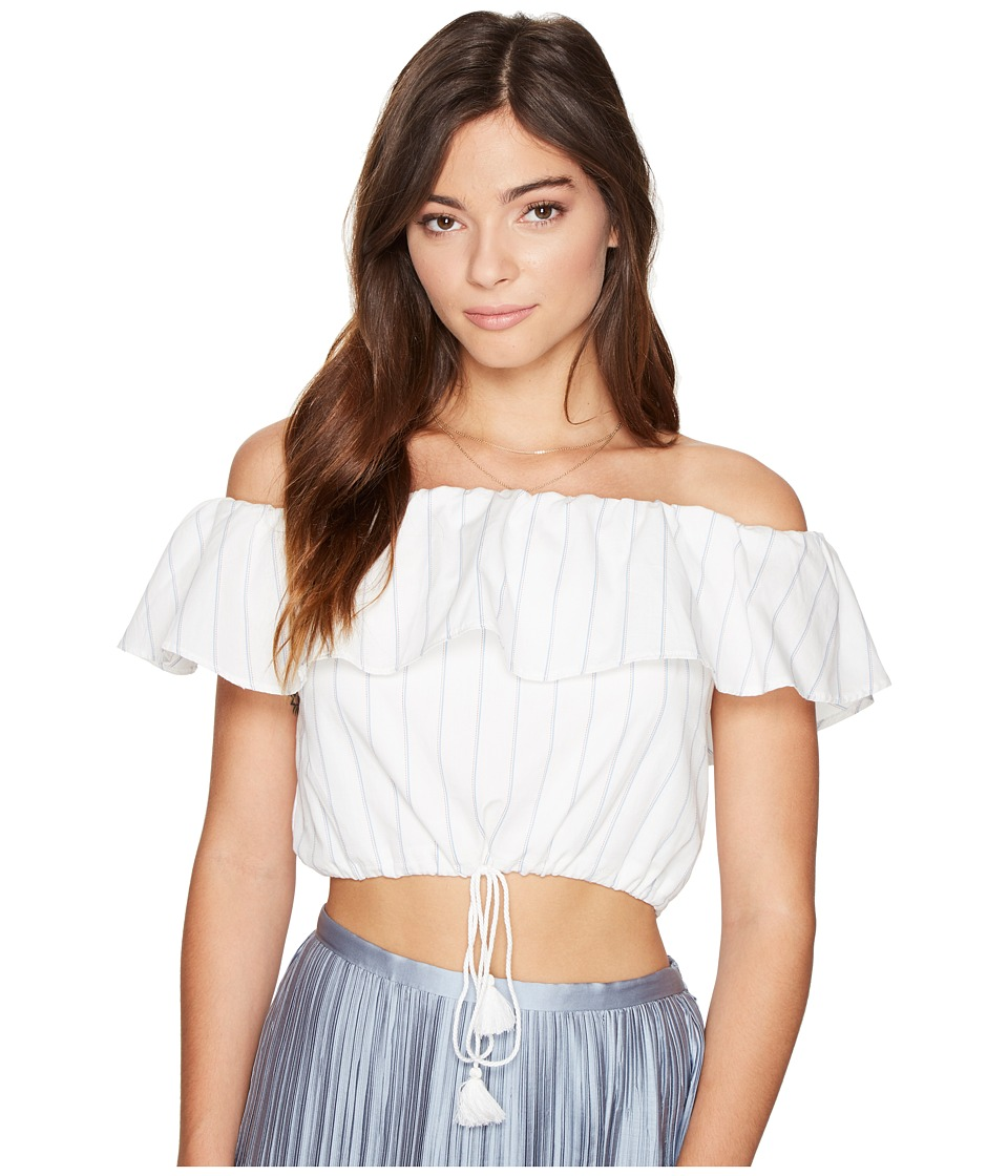 The Jetset Diaries - Anika Crop Top (Ivory) Women's Clothing