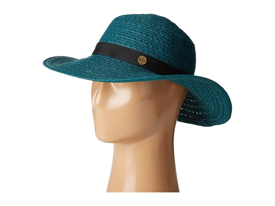 Rip Curl - Kalari Short Brim Boho Hat (Teal) Traditional Hats