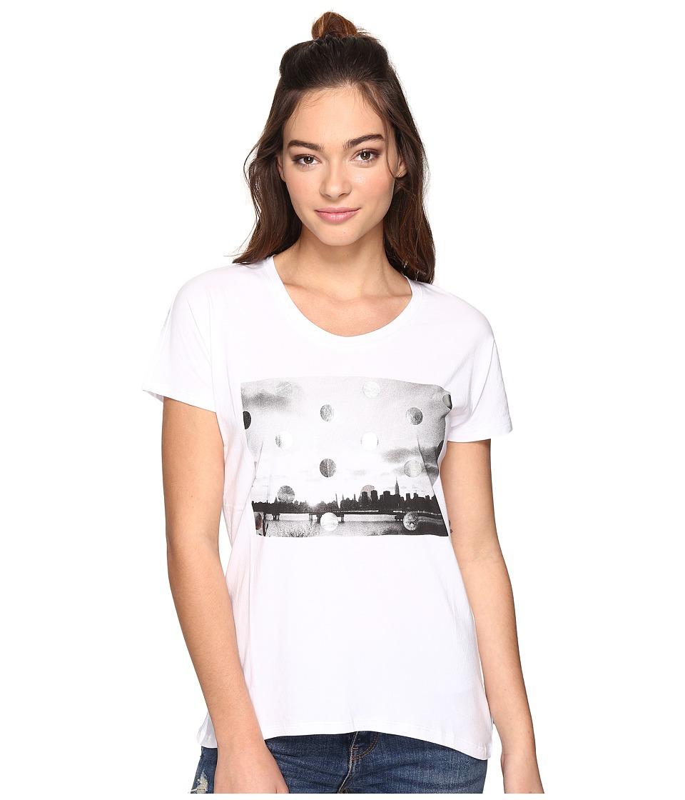Converse - Metallic Photo Femme Short Sleeve Tee (White) Women's T Shirt