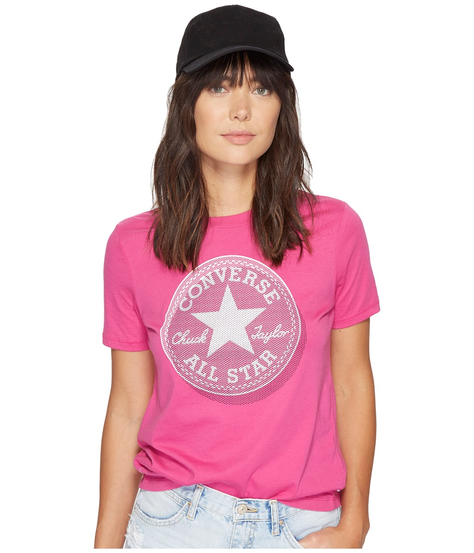 Converse - Microdot Chuck Patch Classic Crew Tee (Magenta Glow/Pink) Women's T Shirt