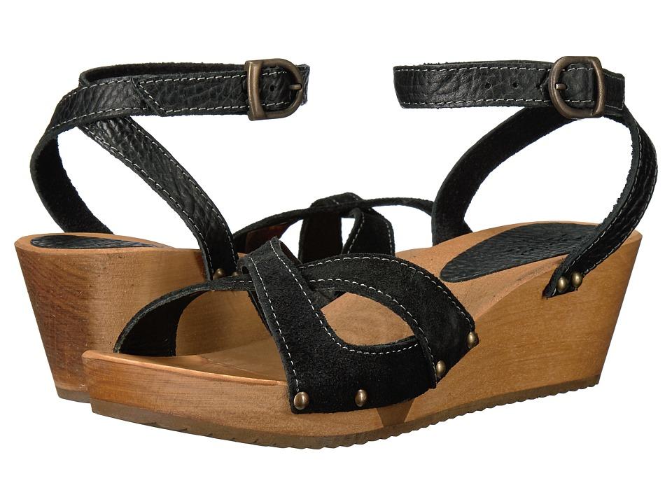 Sanita - Thalia Wedge Flex Sandal (Black) Women's Dress Sandals