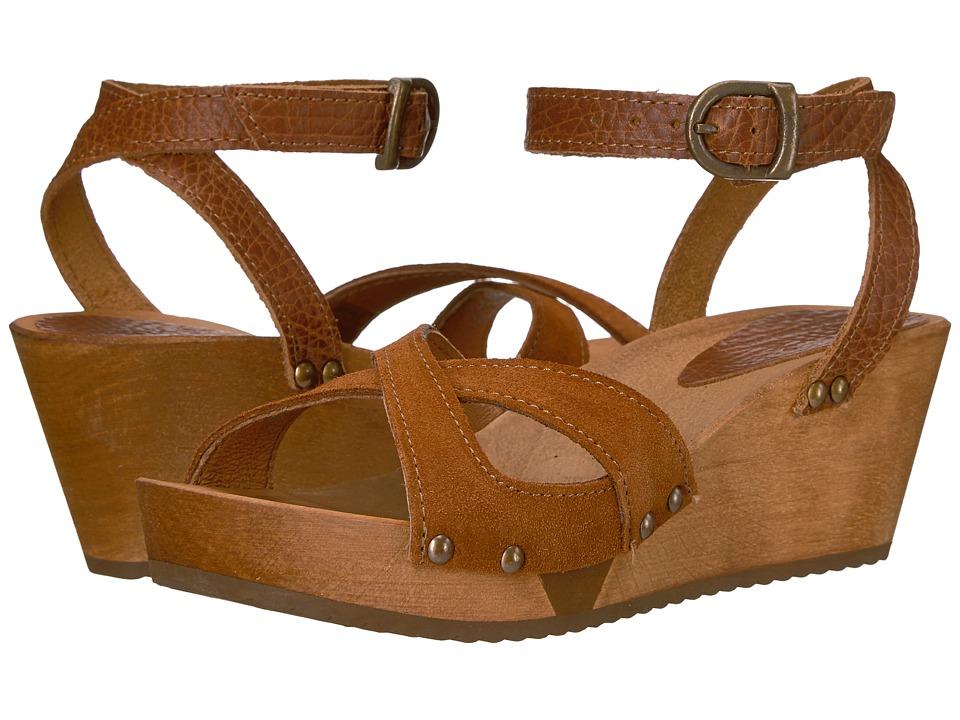 Sanita - Thalia Wedge Flex Sandal (Cognac) Women's Dress Sandals