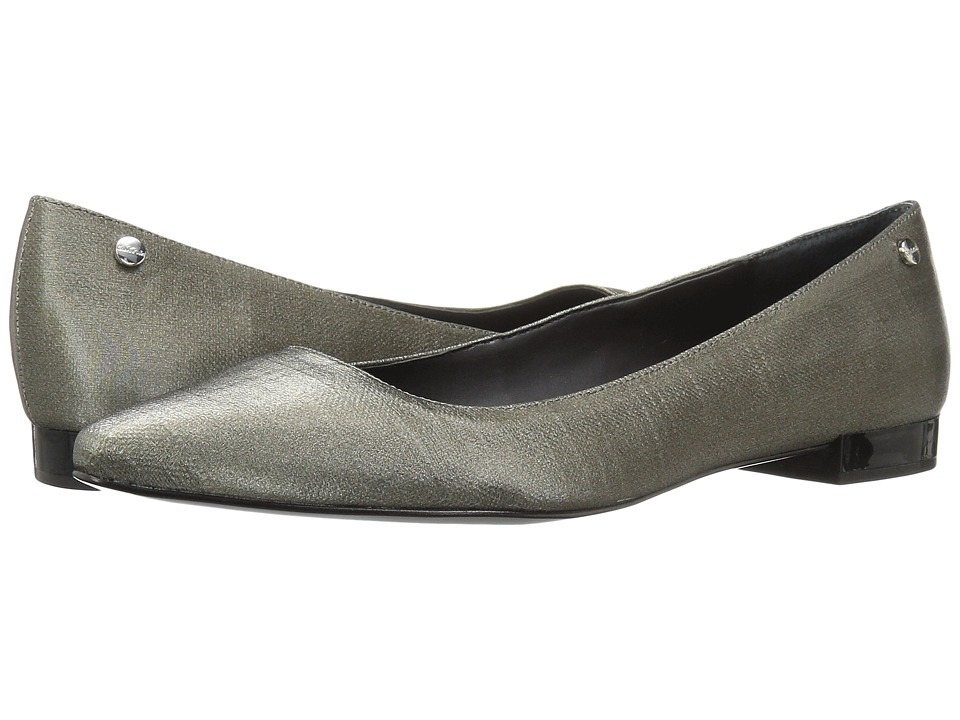 Calvin Klein - Elle (Anthracite Coated Linen) Women's Shoes