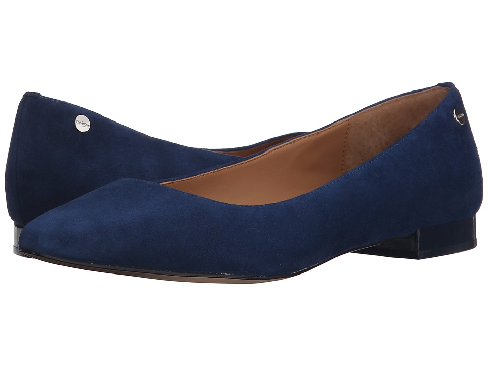 Calvin Klein - Elle (Marine Kid Suede) Women's Shoes