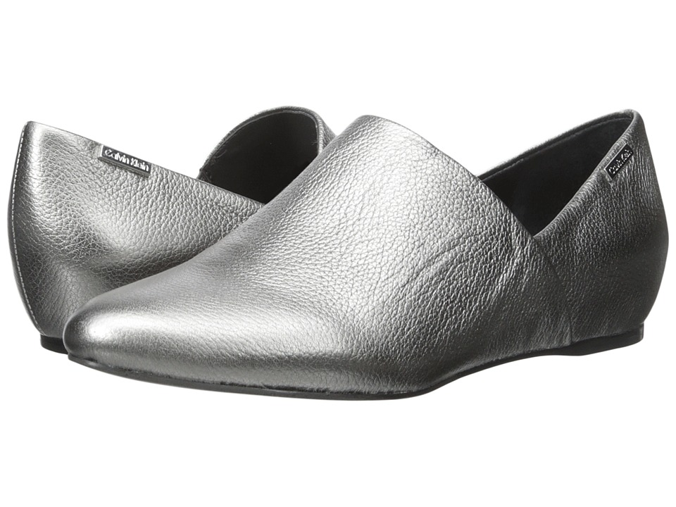 Calvin Klein - Magna (Anthracite Metallic Grain Leather) Women's Shoes