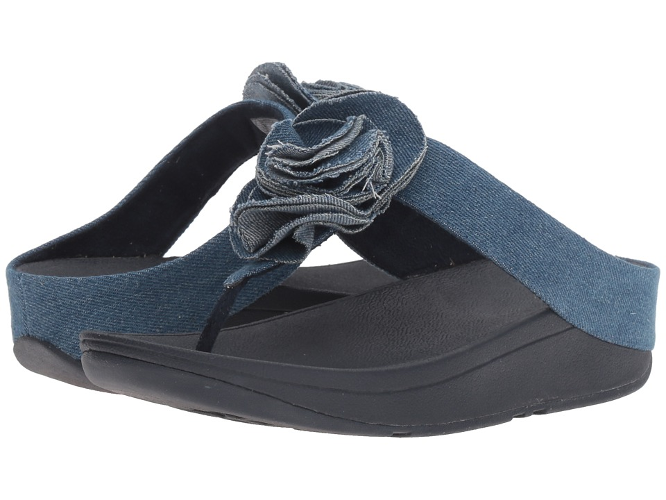 FitFlop - Florrie Toe-Post (Denim) Women's Shoes