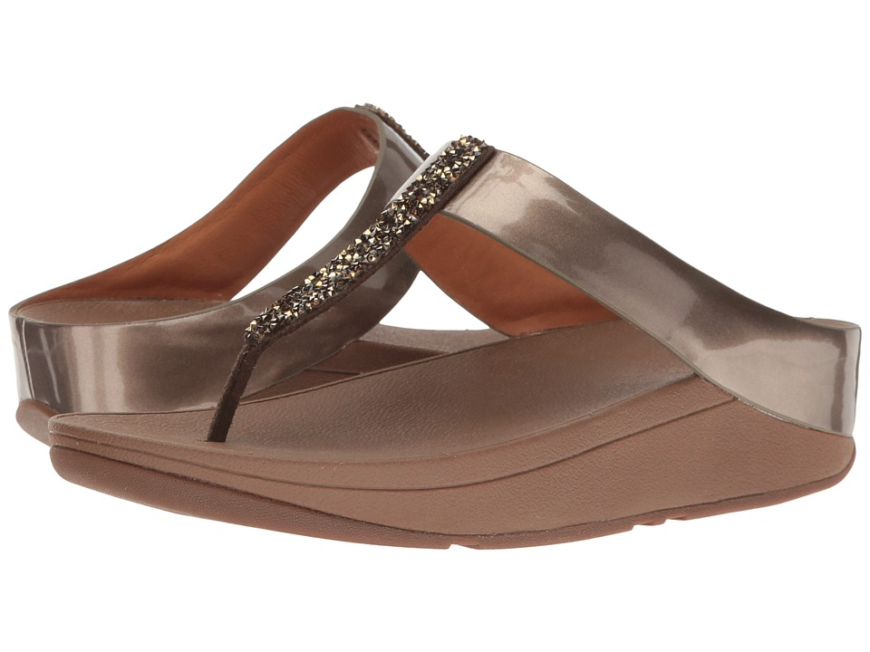 FitFlop - Fino Toe Post (Bronze) Women's Shoes
