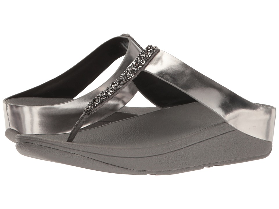 FitFlop - Fino Toe Post (Pewter) Women's Shoes