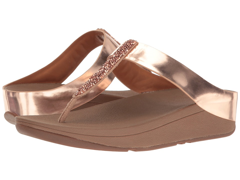 FitFlop Fino Toe Post (Rose Gold) Women
