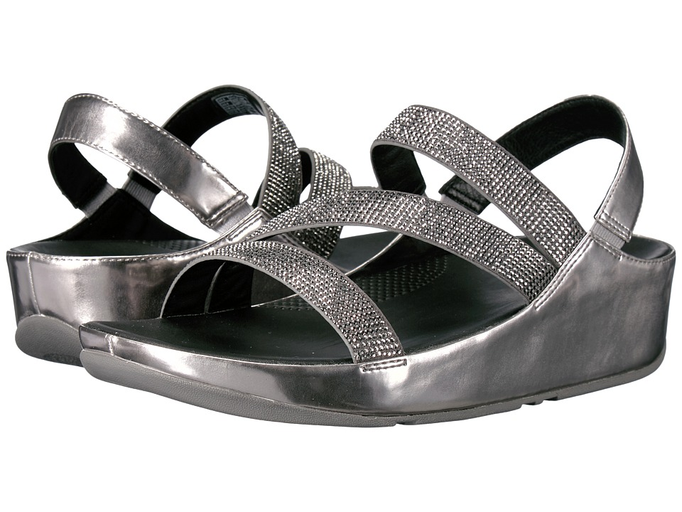 FitFlop - Crystall Z-Strap Sandal (Pewter) Women's Shoes