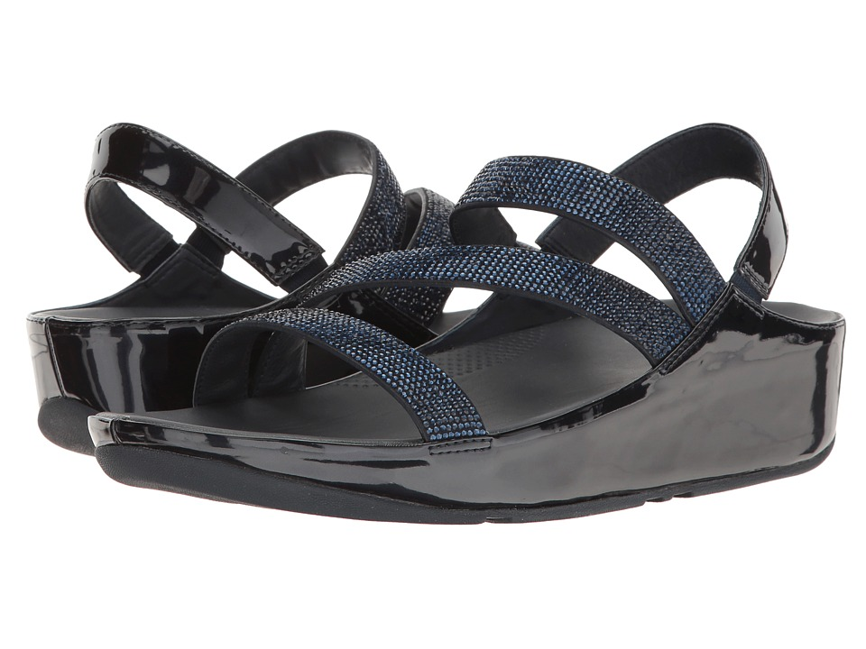 FitFlop - Crystall Z-Strap Sandal (Supernavy) Women's Shoes
