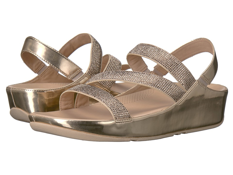 FitFlop Crystall Z-Strap Sandal (Rose Gold) Women