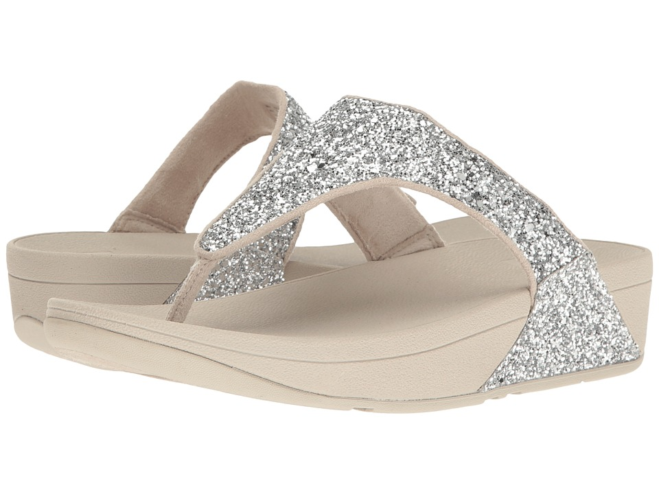 FitFlop Glitterball Toe Post (Silver) Women