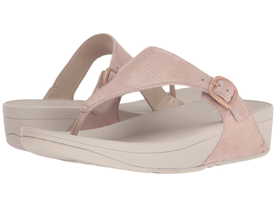 FitFlop - The Skinny Lizard Print (Nude Pink) Women's Shoes