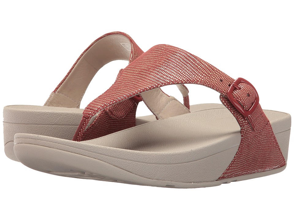 FitFlop - The Skinny Lizard Print (Spice) Women's Shoes