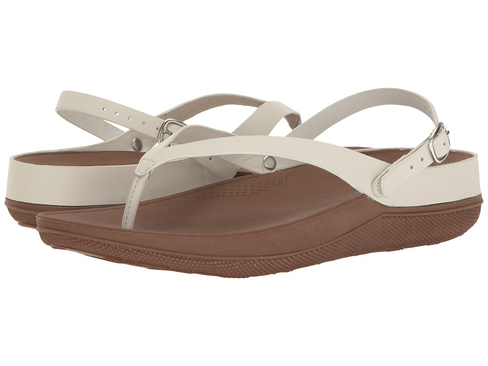 FitFlop - Flip Leather Sandals (Urban White) Women's Shoes