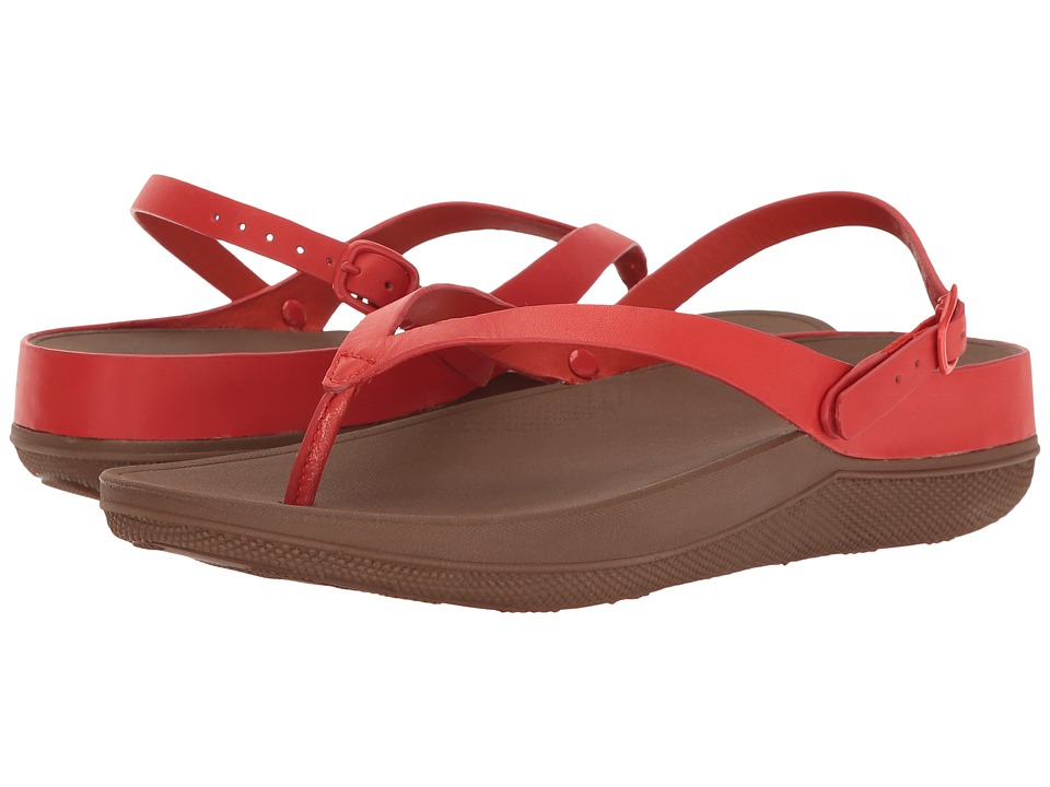 FitFlop - Flip Leather Sandals (Flame) Women's Shoes
