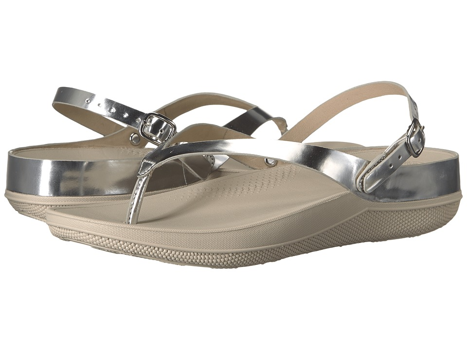 FitFlop - Flip Leather Sandals (Silver Mirror) Women's Shoes