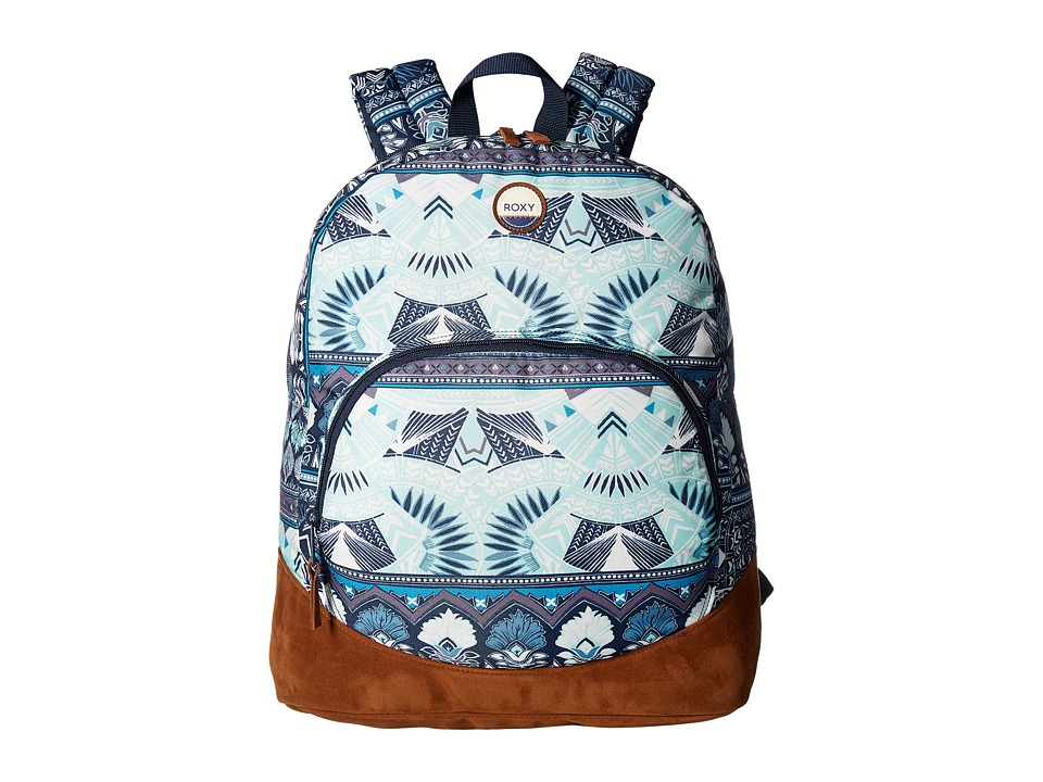 Roxy - Fairness Backpack (Dress Blue Ax Hippie Hop Border) Backpack Bags