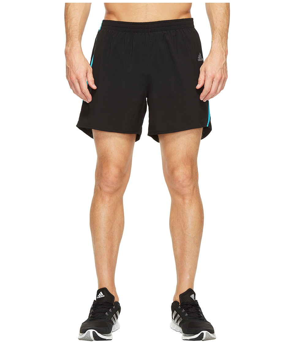 adidas - Response 5 Shorts (Black/Energy Blue) Men's Shorts