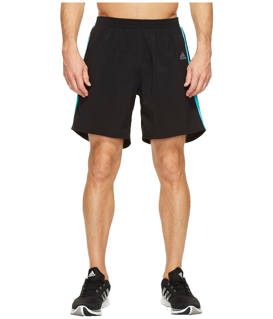 adidas - Response 7 Shorts (Black/Energy Blue) Men's Shorts