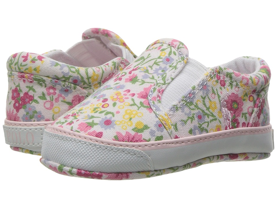 Polo Ralph Lauren Kids - Bal Harbour (Infant/Toddler) (White/Multi Wildflower Floral) Girl's Shoes