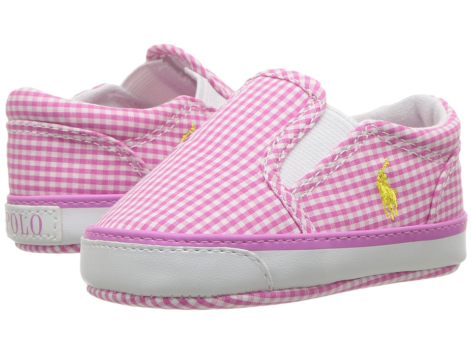 Polo Ralph Lauren Kids - Bal Harbour (Infant/Toddler) (Pink Mini Gingham) Girl's Shoes