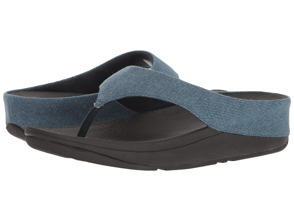 FitFlop - Ringer Toe Post (Denim) Women's Sandals