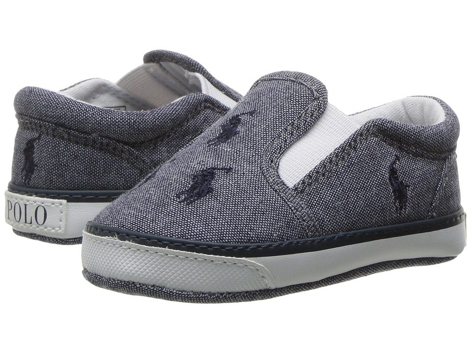 Polo Ralph Lauren Kids - Bal Harbour Repeat (Infant/Toddler) (Navy Chambray/Navy) Kid's Shoes