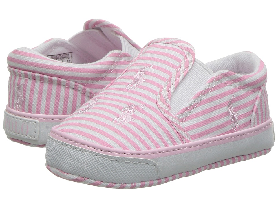 Polo Ralph Lauren Kids - Bal Harbour Repeat (Infant/Toddler) (Pink Stripe Poplin/Pink) Girl's Shoes